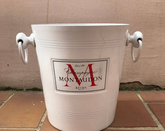 Vintage French Champagne French Ice Bucket Cooler Made France MONTAUDON 0506175