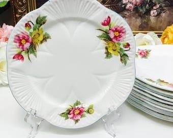 Shelley Begonia salad/dessert plate