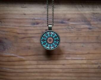 Mandala pendant and necklace