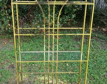 Vintage Brass Tone Etegere Case