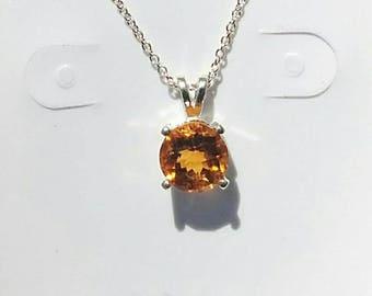 Madeira citrine, Madeira citrine pendant, citrine pendant, citrine necklace, orange necklace, birthday, Christmas