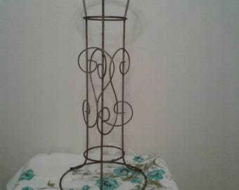 Free Shipping Anywhere!!! Vintage Mid Century Metal Wire Plant Stand