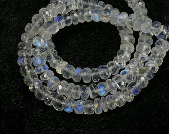 5.6/5.2mm A/AA Rainbow Moonstone bead full natural Madagascar rondelle faceted roundel beads lot for bracelet necklace luxe jewelry (#AC453)