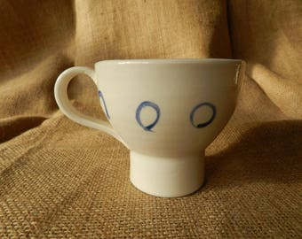 Hand thrown Porcelain Cup