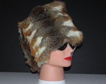 "Superbe et riche bandeau de véritable fourrure de renard des prairies/Superb and rich real prairie fox fur headband  22"" X 7"" approx"