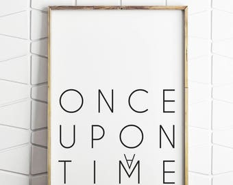 playroom decor, once upon a time, playroom art, playroom wall art, instant download, digital download, play room decor