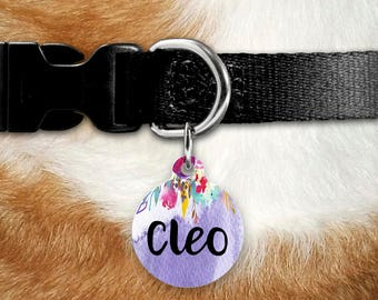 Pet ID Tag, Pet Name Tag, Pet Tag, Dog Tag for Dogs, Dog Tags, Dog Collar Tag, Dog Name Tag, Cat Tag, Cat Name Tag, Dog Tag for Dogs, Round