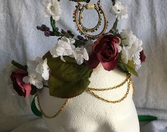 Mother Earth Goddess/ with LED floral headpiece