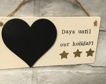 Personalised holiday countdown, Holiday countdown, Days untill our holiday, Vacation, Surname can be included, Family countdowns, Signs,