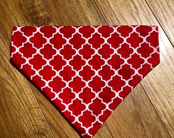 Red and white dog bandana
