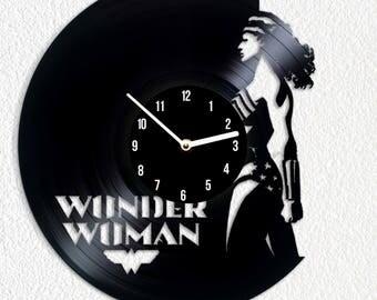 Vinyl clock Wonder Woman