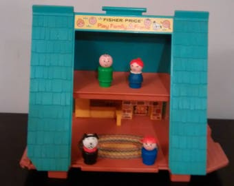 Fisher Price Little People Play Family 990 A Frame House