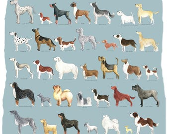 Dog Breed Print