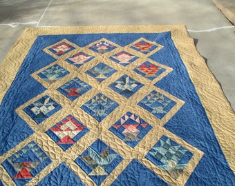 Flower Basket Quilt Hand Quilted Hand Made