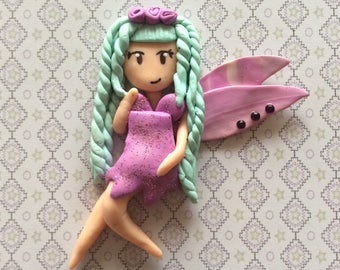 Girl fairy with polymer clay