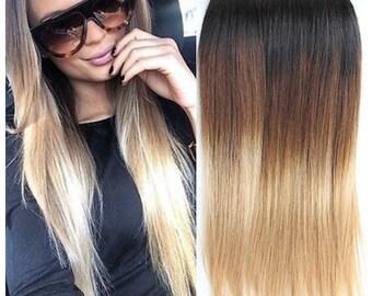 Ombre Virgin Human Hair Bundles  Extensions