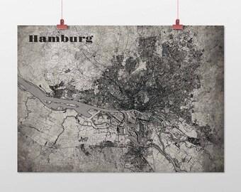 Hamburg - A4 / A3 - print - OldSchool