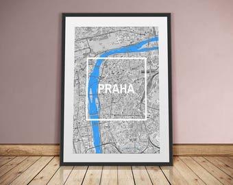 Prague-framed City-digital printing