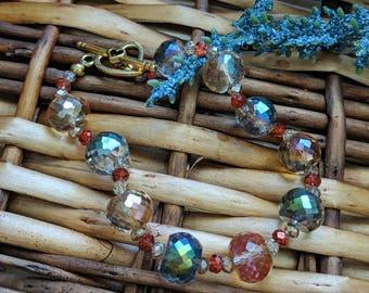 Amber Bracelet, Colorful Bracelet, Valentine's Gift For Her, Amber Bead Bracelet, Elegant Bracelet, Beaded Bracelet | Jewelry for a Cause