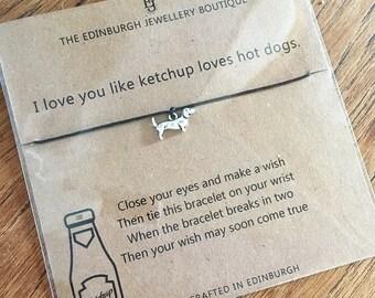 Sausage Dog Wish Bracelet