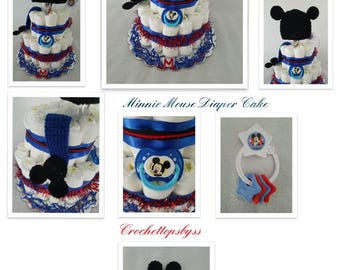 Mickey Mouse 2 Tier Diaper Cake/Gift Arrangement