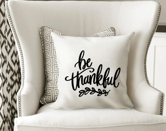Iron-on Be Thankful Decal // Fall // Thanksgiving
