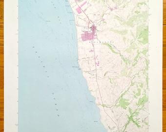 Antique Half Moon Bay California 1961 Us Geological Survey Topographic Map Miramar Martins