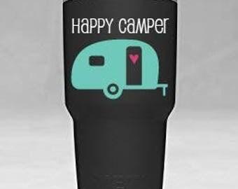 Happy Camper Yeti Tumbler Vinyl Decal