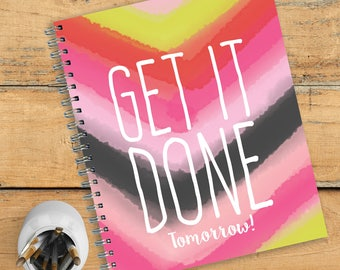 Get It Done Watercolor Open Dated 9x11 Daily Weekly Monthly Planner Agenda