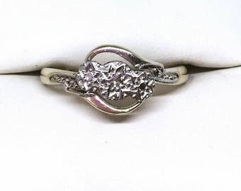 Vintage 9ct Gold & Platinum Diamond Ring