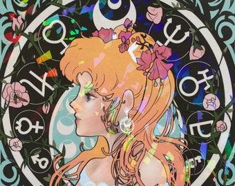 Art Nouveau - Sailor Moon - Mini Print