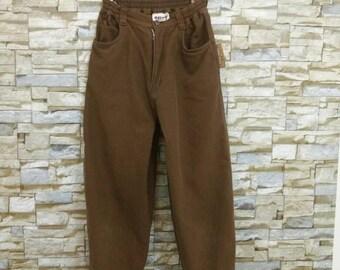 Vintage Issey Miyake Pants Rare Designer Fashion Japan Hai Sporting Gear Brown Color Yohji Yamamoto Comme des Garçons Junya Watanabe Medium
