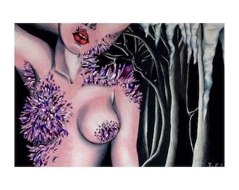 Crystal Lady art piece