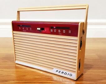 Vintage 1962 Perdio Mayfair PR29 Transistor Radio, Made in England, For Restoration or Decor