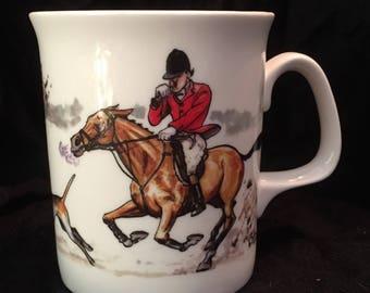 Vintage 1996 Fox Hunt Coffee Cup by Bryn Parry