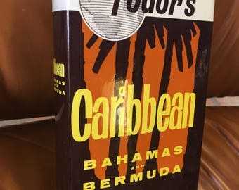 1971 Fodors Caribbean (including Bahamas and Bermuda travel) guidebook with pulloutcolor map