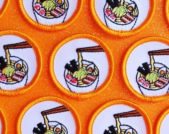 Ramen Merit Badge Patch | Patches and Pins | Concha Patch | Coffee Patch | Ramen Patch | Iron-on | Scout Badge