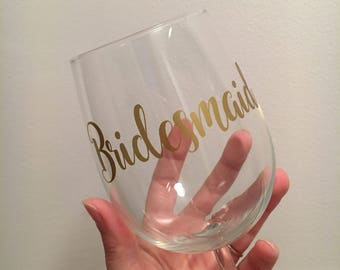 Personalised vinyl sticker, personalised wedding glasses, DIY wedding glasses, hen party gifts, wedding party glasses