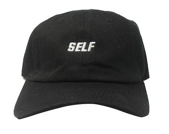 Custom Bryson Tiller Self Dad Cap, Twill Cotton Dad Hat, Justin Bieber Low Profile Adjustable Unisex Cap Yeezy Kanye West Dad Hats Cap