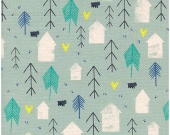 Neighbor in Mint - COZY - Cotton + Steel fabric