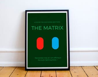 Minimal Matrix Poster 8x10, Downloadable, Art Decor