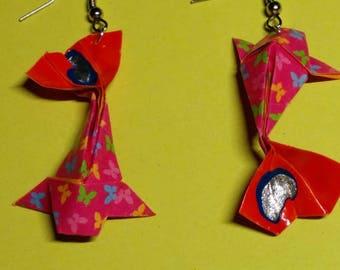 """""""Carp"""" - (CAR_014) silver hook earrings"""
