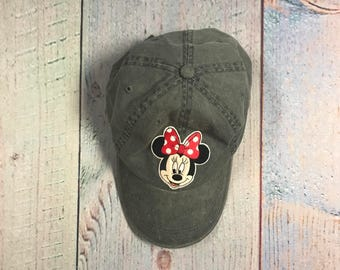 Minnie Mouse hat/Minnie Mouse dat hat/minnie mouse/ disney hat/disney dad hat/pigment dyed hat/disneyland/minnie hat/cap/dad hat/disney