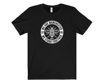 Manchester Bee 014 We Are Manchester Manchester Arena Streetwear Manchester Pride Tshirt 90S Hip Hop Clothing
