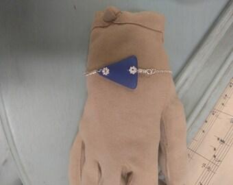 Cobalt Blue Seaglass Bracelet