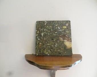 "Old stone display base, 6 1/4"" x 6 1/4"""