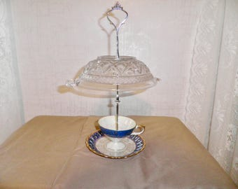 Vintage Cup and Saucer Bird Feeder