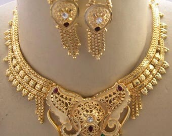 22k gold necklace etsy for 22k gold jewelry usa