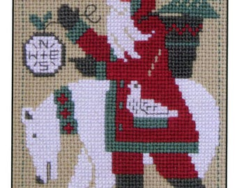 2017 Schooler Santa by Prairie Schooler Counted Cross Stitch Pattern/Chart