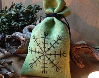 Herbal Medicine-Bag protection/Aegishjalmur/Vikingerrune/protection/Mojo